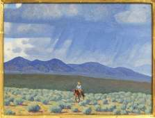 FRED DARGE (1900-1978) 'APPROACHING STORM' TAOS