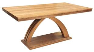 CONTEMPORARY SCULPTURAL WOOD DINING TABLE