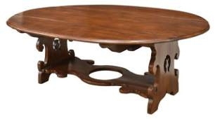 LARGE FRENCH PROVINCIAL DROP-LEAF TABLE