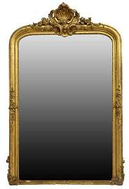 MONUMENTAL LOUIS XV STYLE GILTWOOD MIRROR
