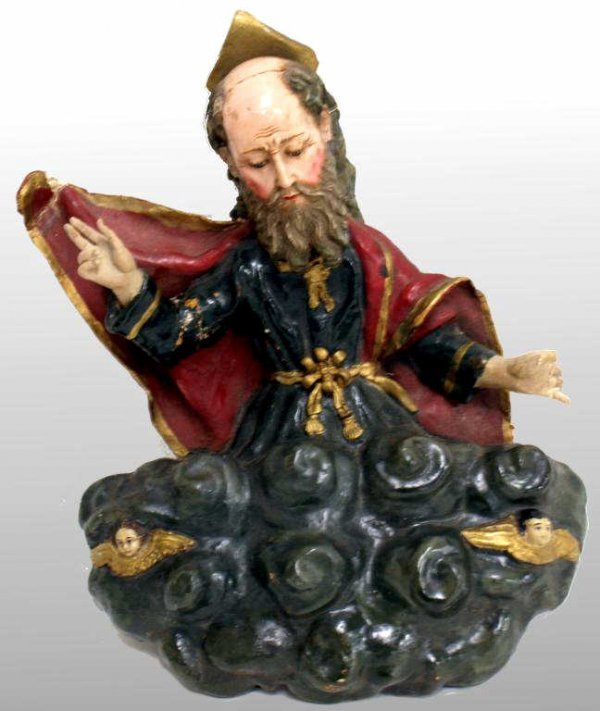 5: ANTIQUE RELIGIOUS FIGURE, GOD THE FATHER