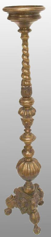 8: ANTIQUE CONTINENTAL BRONZE CHERUB CANDLESTICK