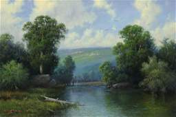 CAL GASPARD (1934-2020) 'ALONG THE FRIO RIVER'