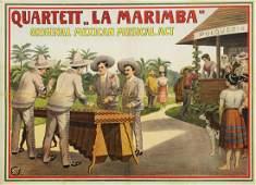 QUARTETT LA MARIMBA MEXICAN MUSICAL ACT POSTER