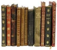 (11) DIMINUTIVE LEATHER-BOUND LIBRARY SHELF BOOKS