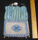 66 ANTIQUE DRAWSTRING BEADED PURSE