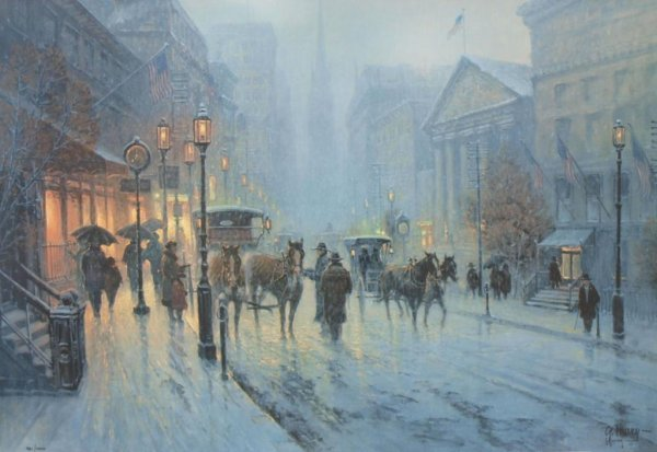 "6: G. HARVEY SIGNED LIMITED PRINT ""WALL STREET"""