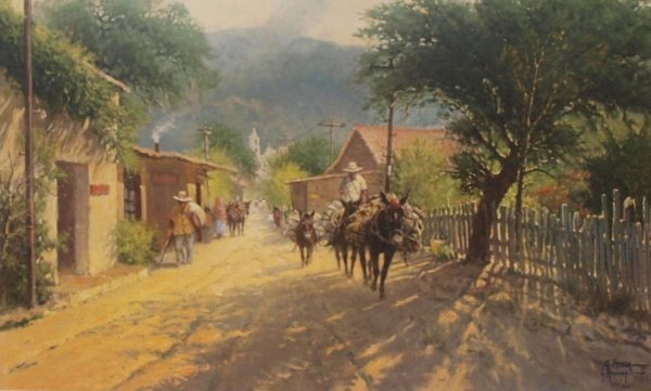 "15: G. HARVEY LIMITED SIGNED PRINT ""IXTIPAN VILLAGE"""