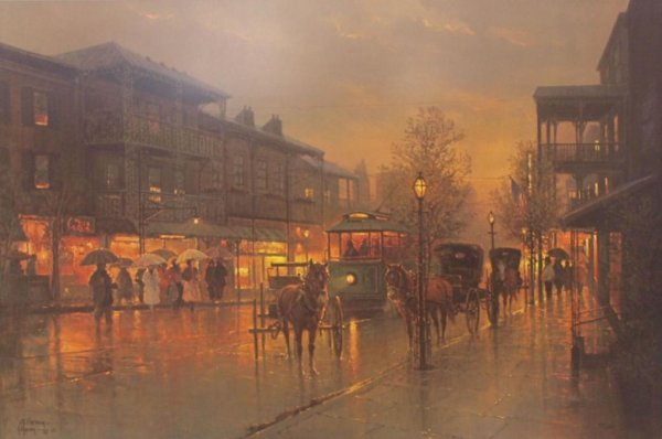 "17: G. HARVEY LIMITED SIGNED PRINT ""ROYAL STREET"""