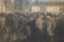 ORIGINAL CHARCOAL ILLUSTRATION, W.H.D. KOERNER
