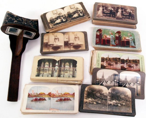 COLLECTION OF ANTIQUE & VINTAGE STEROVIEW CARDS