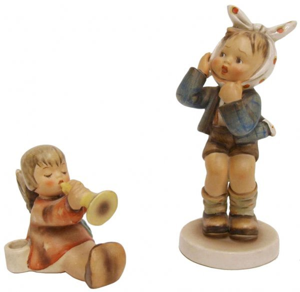HUMMEL FIGURINES, BOY WITH TOOTHACHE, JOYOUS NEWS