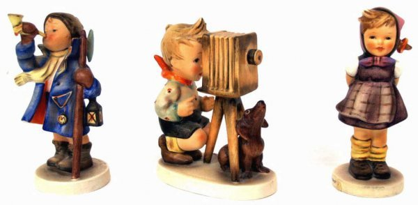HUMMEL FIGURINES, WHICH HAND, THE PHOTOGRAPHER