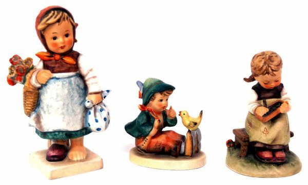 HUMMEL FIGURINES, WEARY WANDERER, BUSY STUDENT