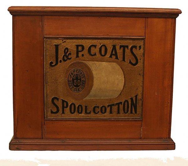 ANTIQUE J & P COATS SIX DRAWER SPOOL CABINET - 2