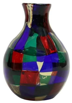 BIANCONI (1915-1996) VENINI PEZZATO ART GLASS VASE
