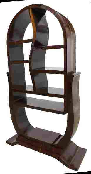 FRENCH ART DECO ROSEWOOD ETAGERE, C.1930s