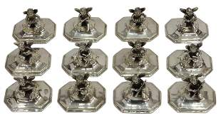(12) STERLING MUSICAL CHERUBS PLACE CARD HOLDERS