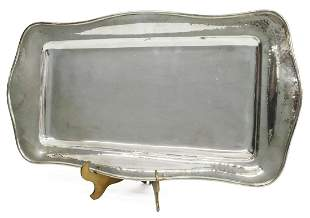 ITALIAN BUCCELLATI HAMMERED STERLING SILVER TRAY