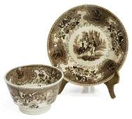(2 PC) STAFFORDSHIRE TEXIAN CAMPAIGNE CUP & SAUCER