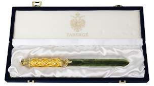 HOUSE OF FABERGE CORONATION LETTER OPENER