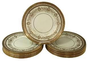(11) MINTONS TIFFANY & CO. GILT ENCRUSTED PLATES