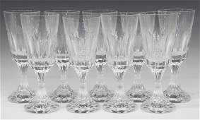 (9) FRENCH BACCARAT 'D'ASSAS' WATER GOBLETS