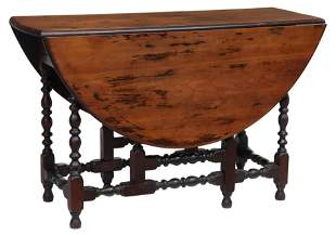 NEW HAMPSHIRE WILLIAM & MARY STYLE GATE LEG TABLE