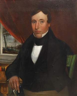 AMERICAN SCHOOL PORTRAIT OF A GENTLEMAN