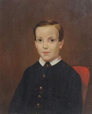 AMERICAN SCHOOL PORTRAIT OF A YOUNG BOY