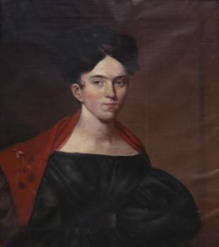 AMERICAN SCHOOL PORTRAIT OF A LADY, C.1830s-1840s