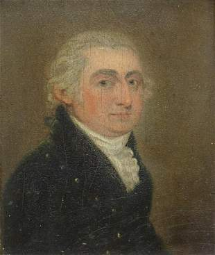AMERICAN SCHOOL PORTRAIT ON PANEL, T. THORNTON