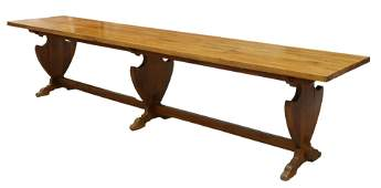 """LARGE FRENCH PROVINCIAL REFECTORY TABLE, 138""""L"""