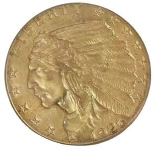 U.S. 1926 INDIA HEAD QUARTER EAGLE GOLD COIN