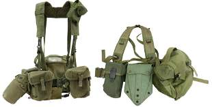 (2) US MILITARY FIELD PACK PISTOL BELT MAG POUCHES