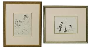 (2) PABLO PICASSO HUMAN COMEDY HELIOGRAVURES