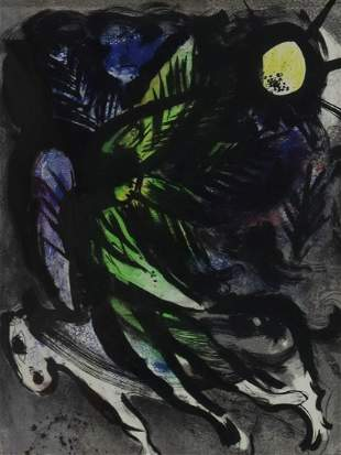 MARC CHAGALL (1887-1985) 'L'ANGE' LITHOGRAPH