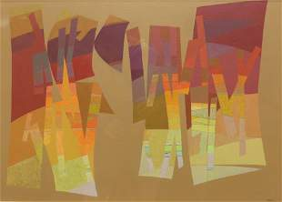 JOHN O'NEIL (1915-2004) ABSTRACT PAINTING COTOPAXI