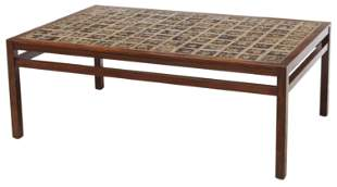 DANISH MID-CENTURY TILE-TOP ROSEWOOD COFFEE TABLE