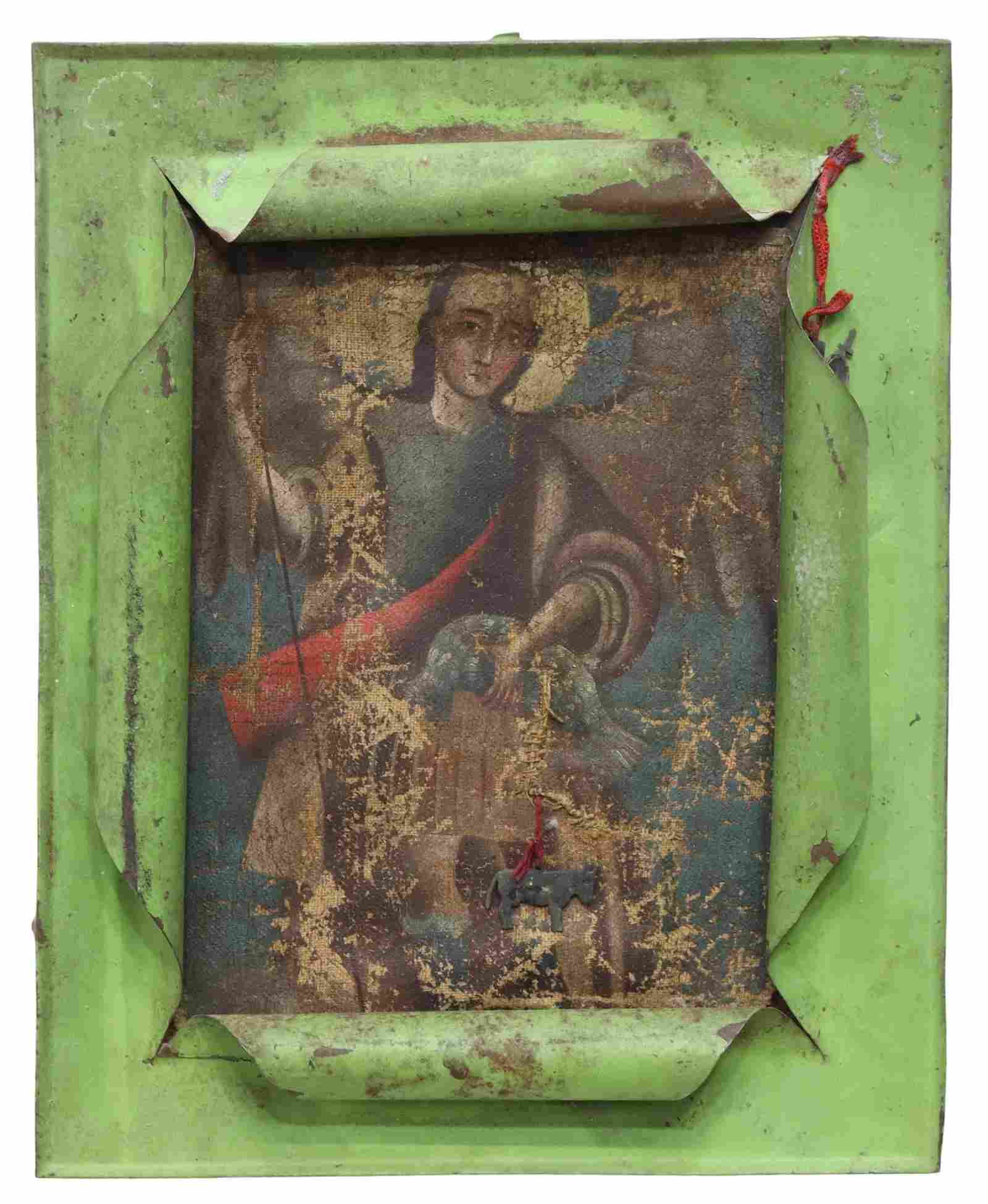 ARCHANGEL RAPHAEL PAINTING ON CANVAS, MEXICO