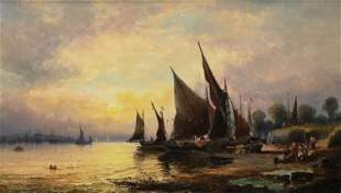 WILLIAM ANSLOW THORNLEY (C.1830-1898) HARBOR SCENE
