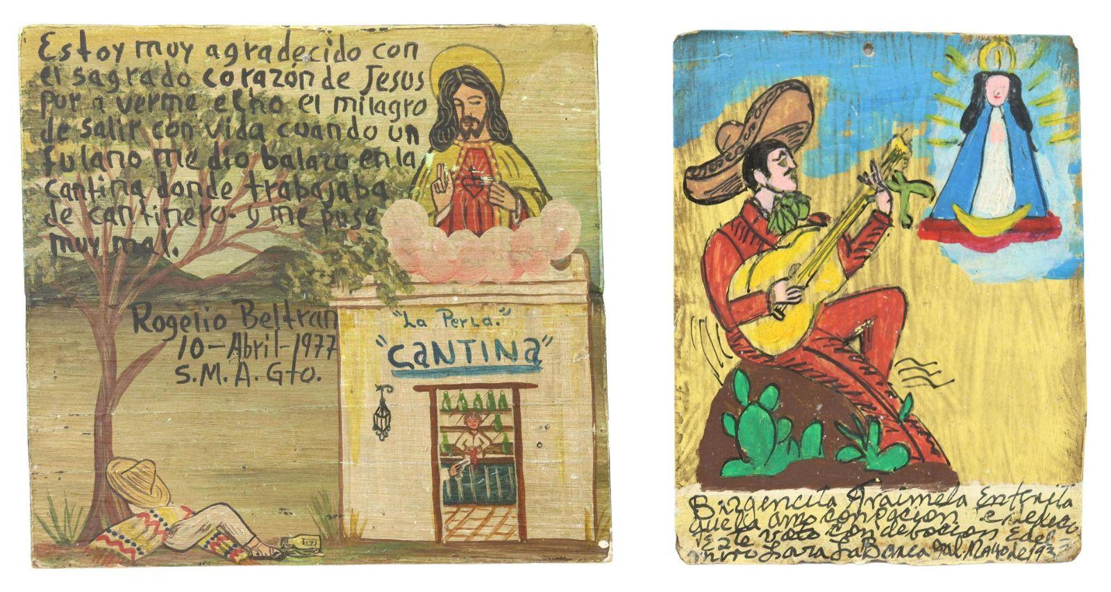 (2) RELIGIOUS EX-VOTO, MEXICO