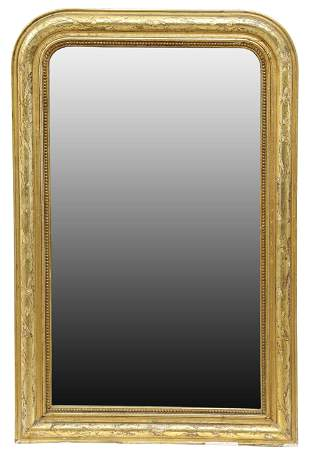 FRENCH CHARLES X GILTWOOD WALL MIRROR
