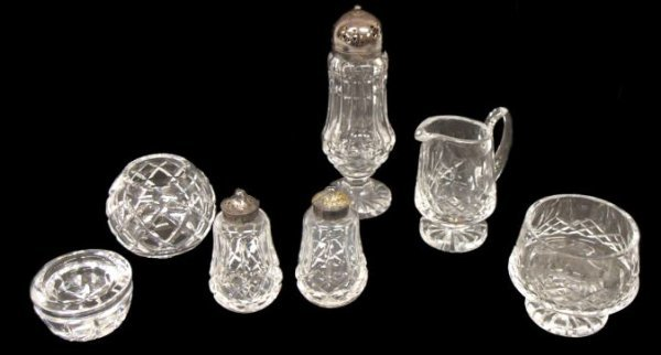 2: COLLECTION OF WATERFORD CUT CRYSTAL TABLE ARTICLES