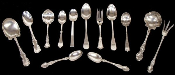 15: AMERICAN STERLING FLATWARE, WHITING, TIFFANY & CO
