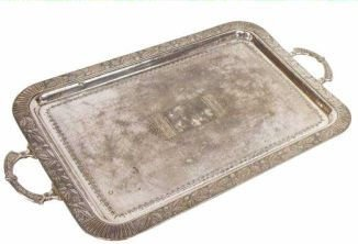 18: AMERICAN SILVER PLATE AESTHETIC SERVICE TRAY