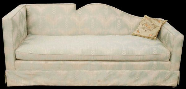 35 Pair Of Vintage Unusual Shaped Upholstered Sofas Lot 35