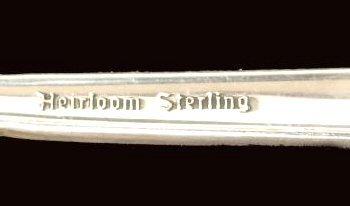 196: ONEIDA HEIRLOOM DAMASK ROSE STERLING FLATWARE SET - 5