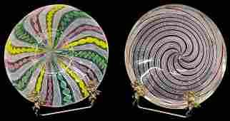 301: VENETIAN ART GLASS LATTICINO & MURANO SWIRL BOWLS