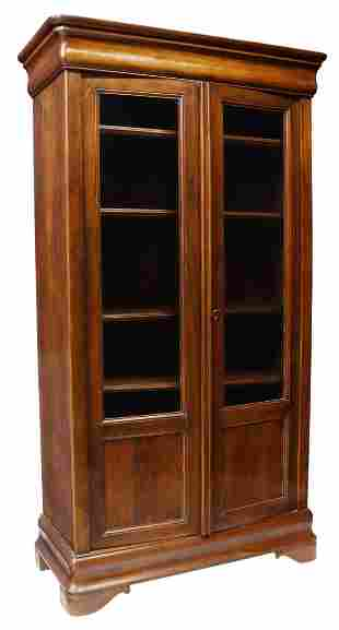 FRENCH LOUIS PHILIPPE PERIOD WALNUT BOOKCASE
